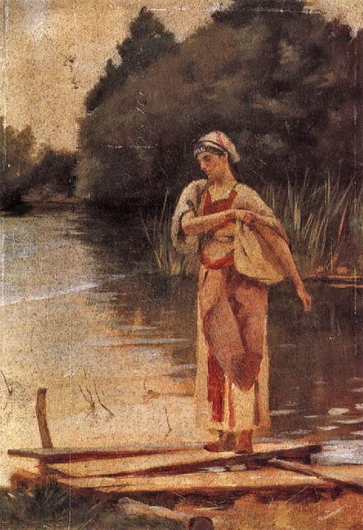 Ράλλης Θεόδωρος-Κοπέλα στο ποτάμι