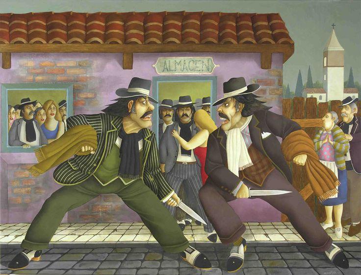 Milonga de Calandria (2005) - Óleo s/tela 124 x 144