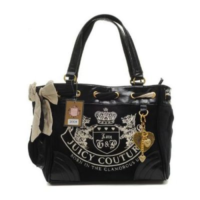 Juicy Couture Scottie Bling Daydreamer Black Handbags | Cheap Juicy Couture Outlet Online,100% Authentic Quality