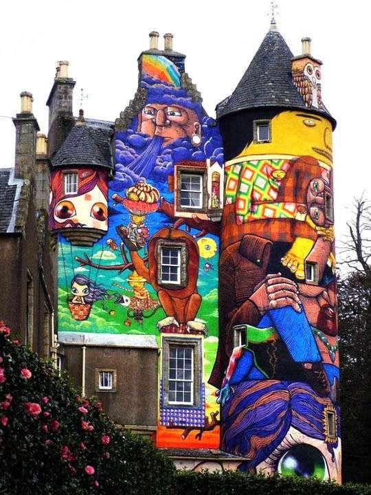 Graffiti Artists Channel Bad Acid Trips to Attack Scottish Castle #architecture #uniquearchitecture