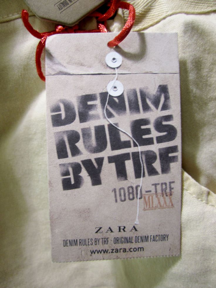 Zara denim TRF #hangtag
