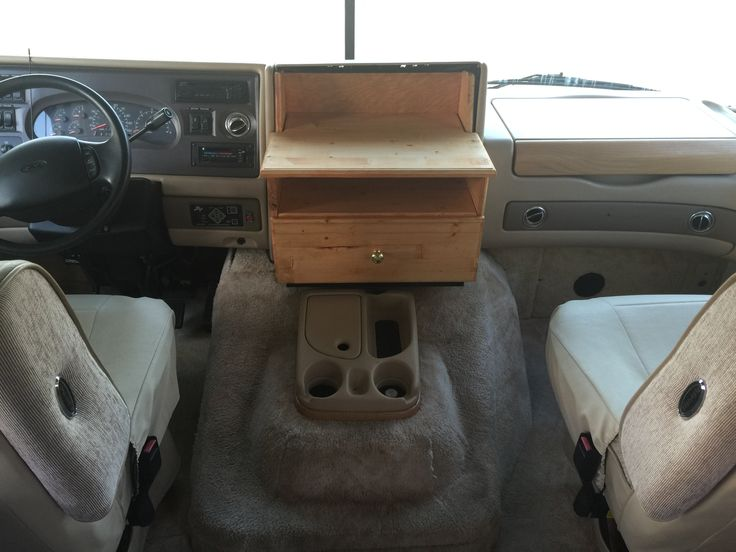 Custom center console box for my cousin's RV.  It just had a hole there and he wanted something he could put movies in and set a TV on.