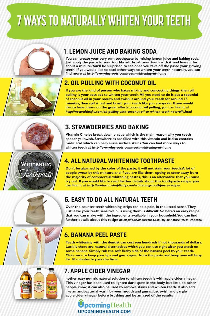 Because many teeth whitening options involve sticking yucky chemicals into the mouth, a lot of people think twice about it. It can also be expensive. There are alternatives though. Here are 7 ways to naturally whiten your teeth at home!