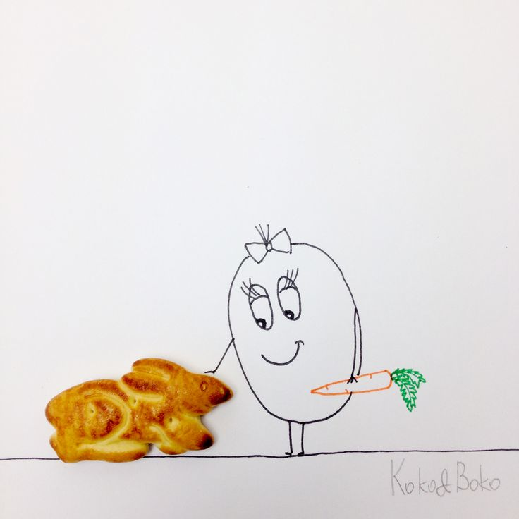 :)  http://instagram.com/kokoandboko #kokoboko #pet #cute #story #love #rabbit #carrot #smile #happy #illustration #art
