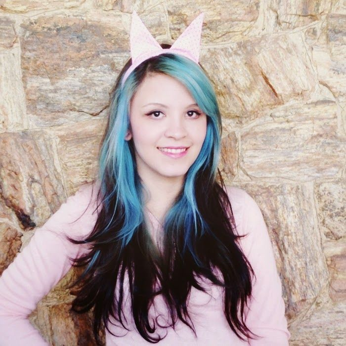 O mundo de Jess Como fazer: cabelo turquesa usando anilina • O mundo de Jess