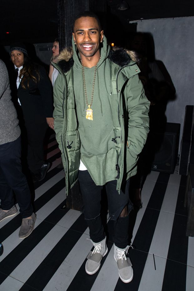 Big Sean in the adidas Yeezy Boost