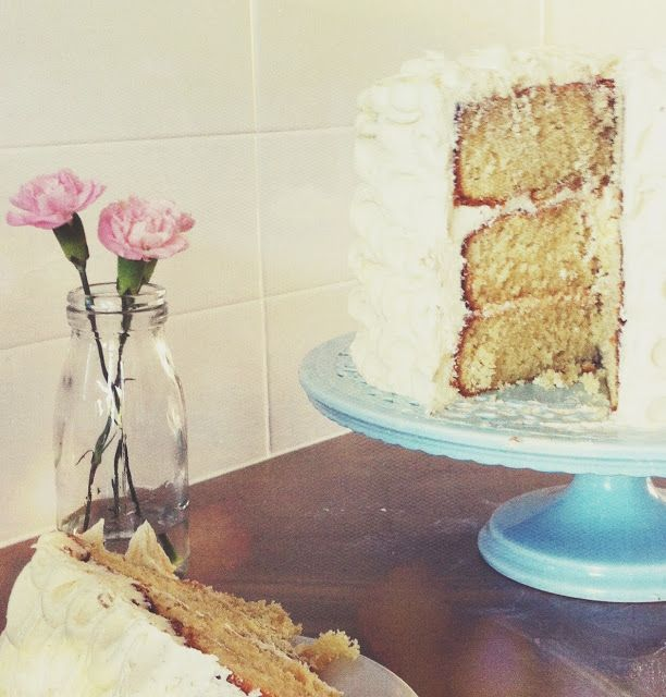Vanilla Layer Cake with Rose Butter Cream @alita_johnson