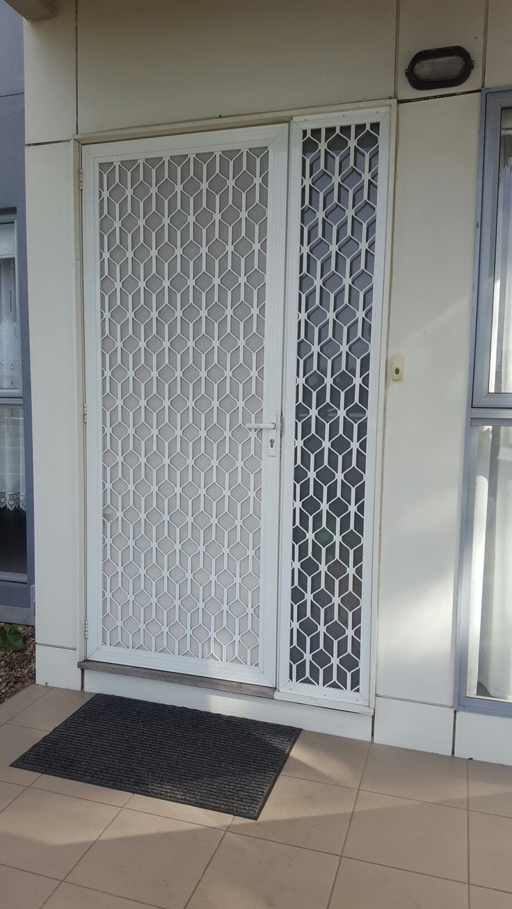Decorative grill security door  www.flyscreensaustralia.com.au