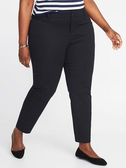 a92cf6e1f75e6 Mid-Rise Plus-Size Pixie Pants