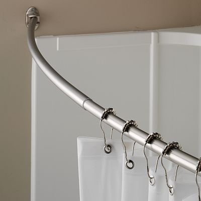 home classics curved shower curtain rod grey