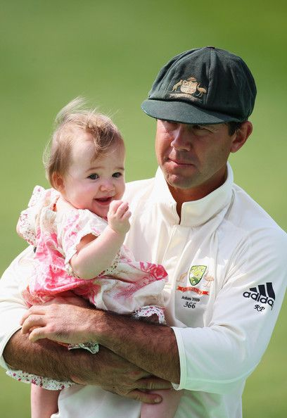 Ricky Ponting with daughter Emmy