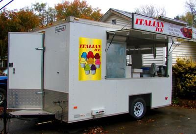 7 x 12 Haulmark Trailer + 2003 Chevy Box Truck: 11/4/2013 (Buckhannon, West Virginia) - Excellent income opportunity selling Italian Ice, Gourmet Drinks, Frozen Sweet Tea, Frozen Lemonade, Frozen Hot