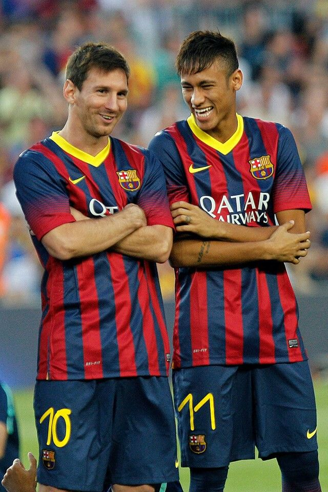 Neymar & Messi, two f the sexiest and best player alive! I think I might pass out!