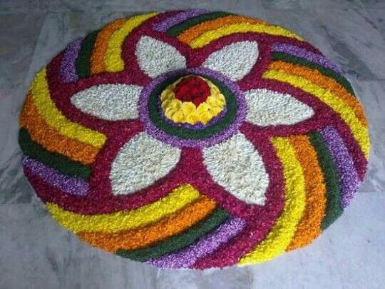 Best 25+ Flower rangoli ideas on Pinterest
