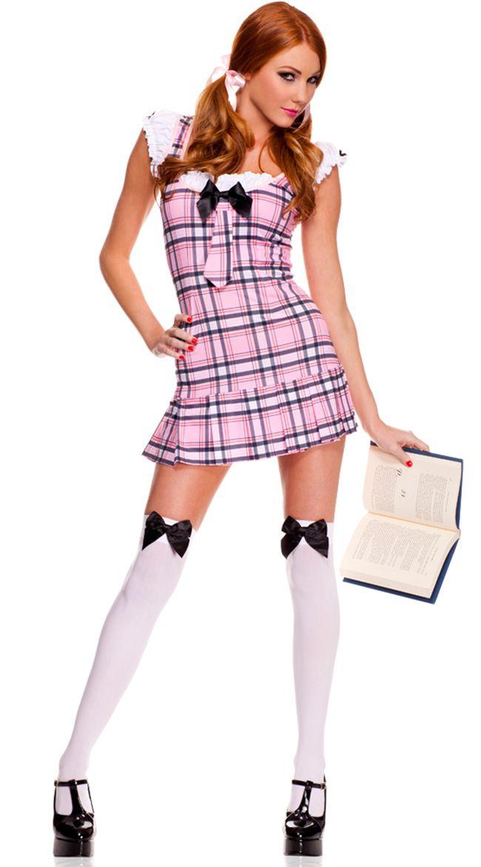 Plus Size Ruffle School Girl Costume  Bad Girl  School -1855