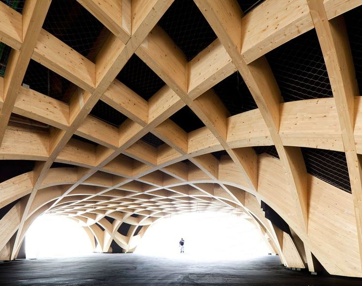 France Pavilion's ''giant wooden structure'' at Expo Milano 2015