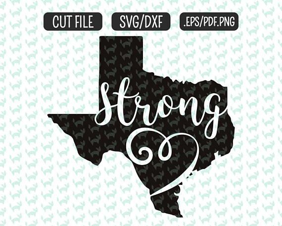 Texas strong svg, hurricane harvey flood cut file texas svg for silhouette cameo and cricut machines $3.00  #texasstrong #texassvg https://www.etsy.com/listing/541045390/texas-strong-svg-dxf-eps-png-files-for