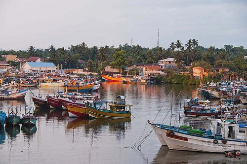 Fisheries Harbour at dusk, Beruwala, Sri Lanka