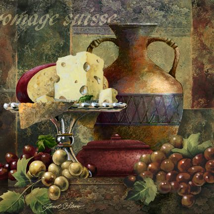 """""""Cheese & Grapes II""""   by Janet Stever"""
