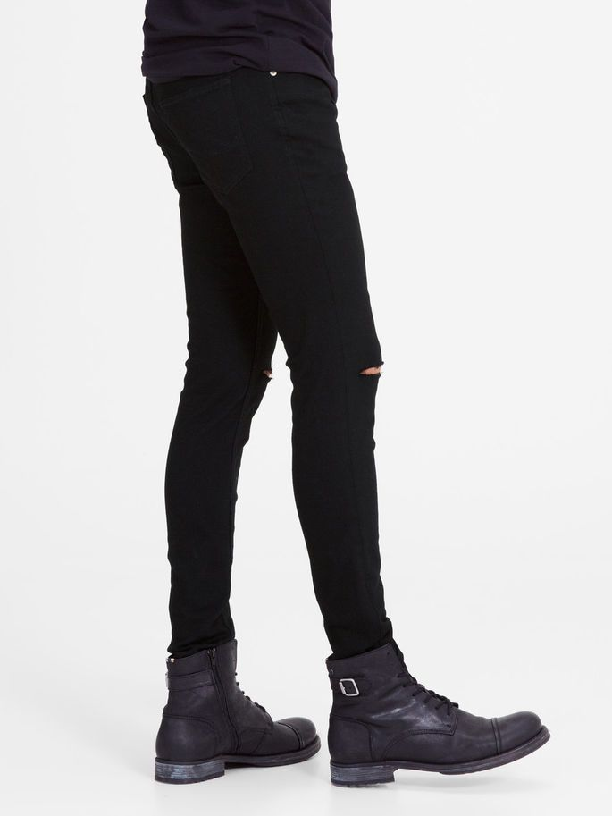 Black ripped denim jeans ripped - thJJILIAM JJORIGINAL AM 109 LID STS SKINNY FIT JEANS | JACK & JONES
