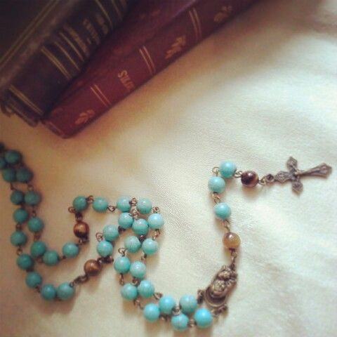 Turquoise Rosary with Tiger Eye