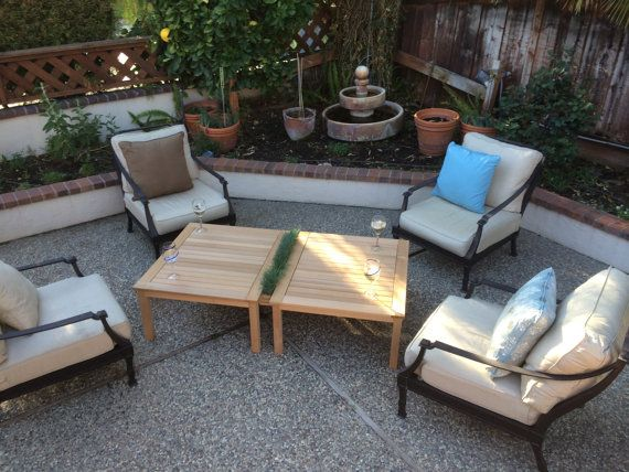 Patio table with hidden garden on Etsy, $599.00