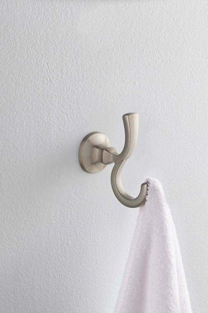 Photographic Gallery Delta Mandara Double Towel Hook in SpotShield Brushed Nickel