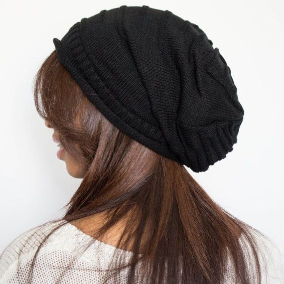 Satin Lined Beanie Slouchy Beanie Natural Hair by TagMeTrendy, $25.00