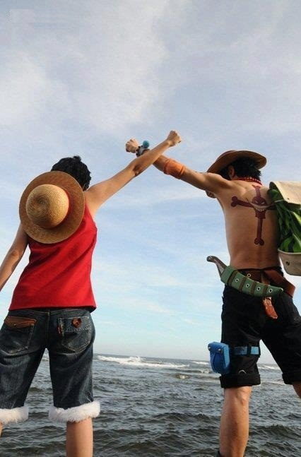 Luffy & Ace cosplay- One Piece