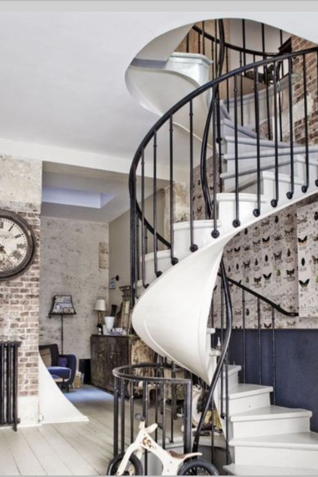 les 85 meilleures images propos de escalier sur pinterest industriel escalier de fer et. Black Bedroom Furniture Sets. Home Design Ideas