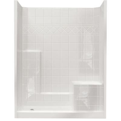 Ella Standard 32 in. x 60 in. x 77 in. Walk-In Shower Kit in White with Low Threshold-6032 SH IS 3P 4.0 R-WH STD at The Home Depot