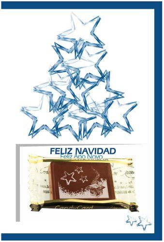 ¡Tarjetas de Navidad con una deliciosa creación de chocolate nuestra!