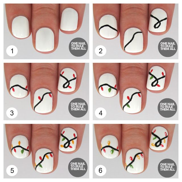 One Nail To Rule Them All: Tutorial Tuesday: Christmas