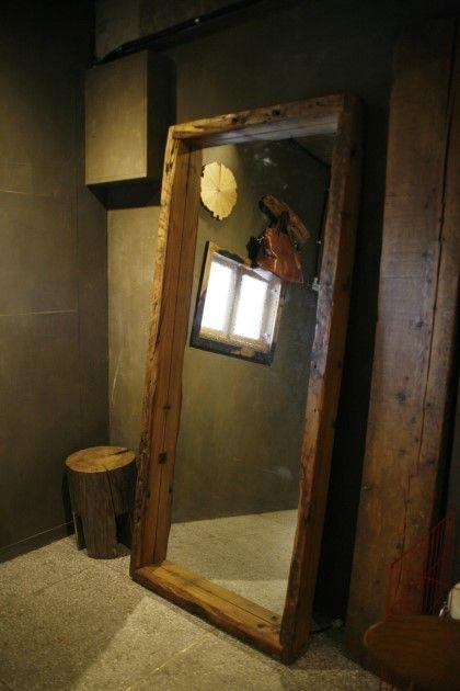 000-009 빈티지 북미산 소나무 고재 대형거울 : 네이버 블로그