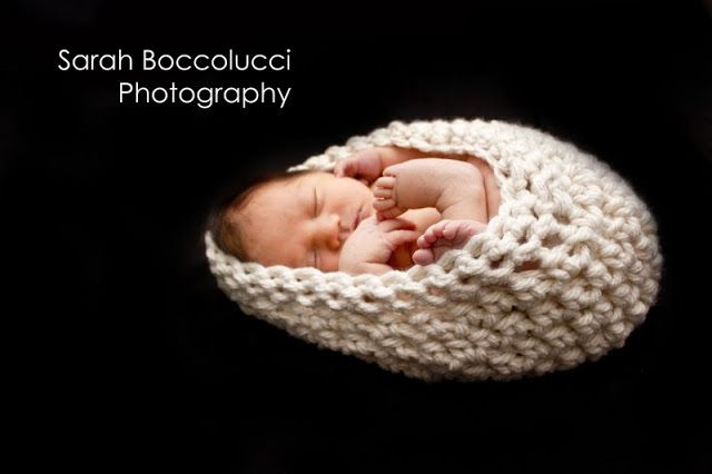 Tots and Bottoms: Simple Baby Cocoon - Photo Prop