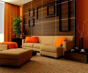 Turuncu renkle ev renk dekorasyonları