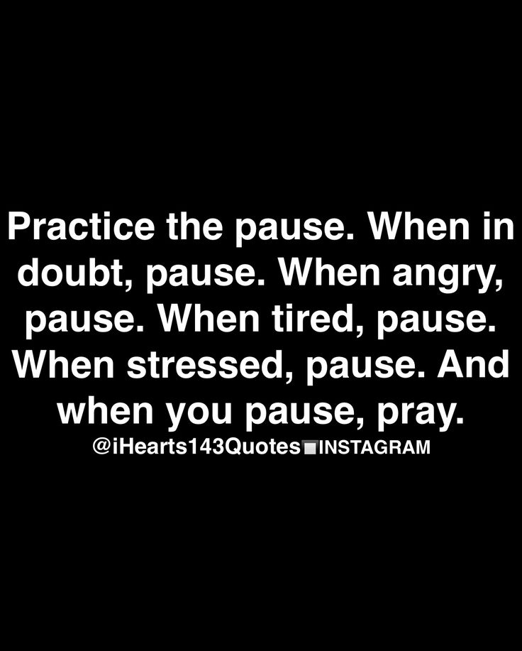The psychology of the pause