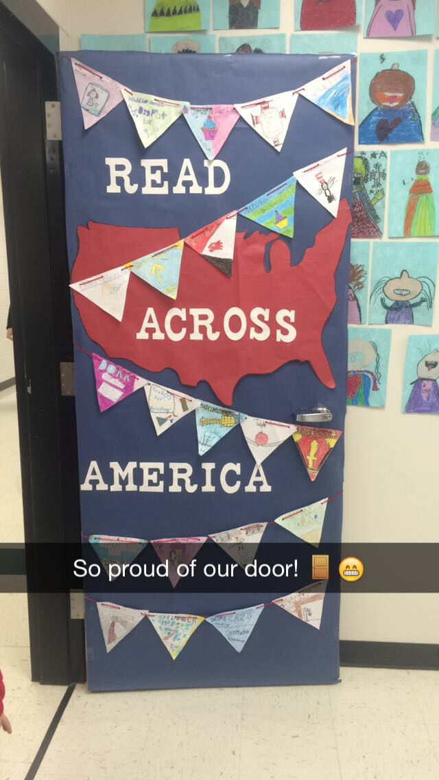 Read Across America week! Kids decorated the banner with a book jacket of their favorite book! :)