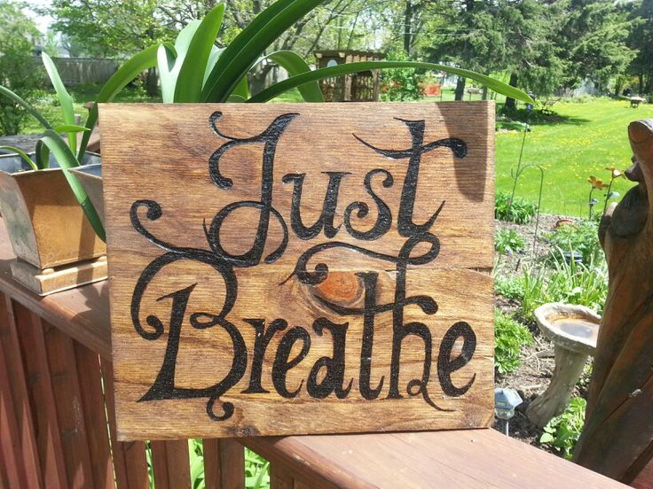 Wooden wall art with adorable font wood-burned