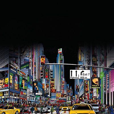 Lavagna magnetica City life 40 x 40 cm