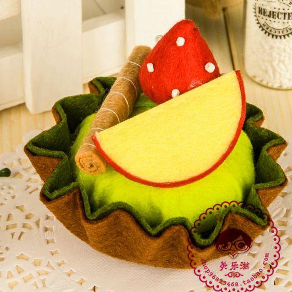 6 Шт. DIY ручной тканый ткань фруктовый торт для украшения дома/Весь набор Дети…