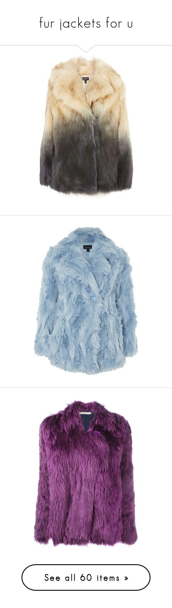 """fur jackets for u"" by evenaka on Polyvore featuring outerwear, coats, teal, teal coat, fake fur coat, retro coat, imitation fur coats, topshop coats, blue and blue coat"
