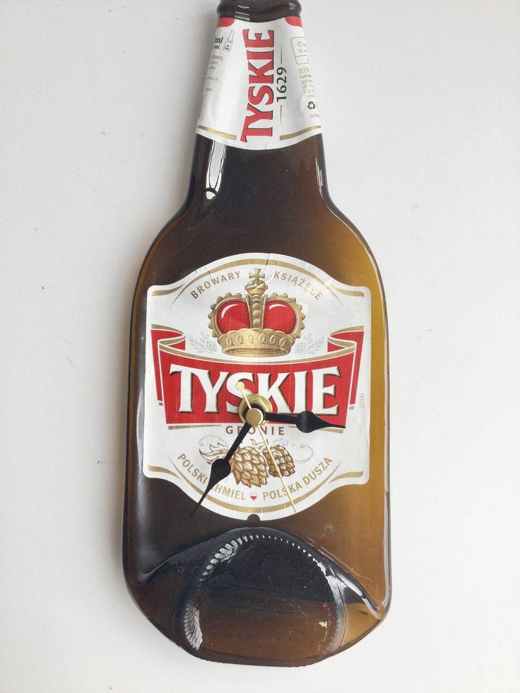 Tyskie Polish beer bottle clock by causewaybay on Etsy