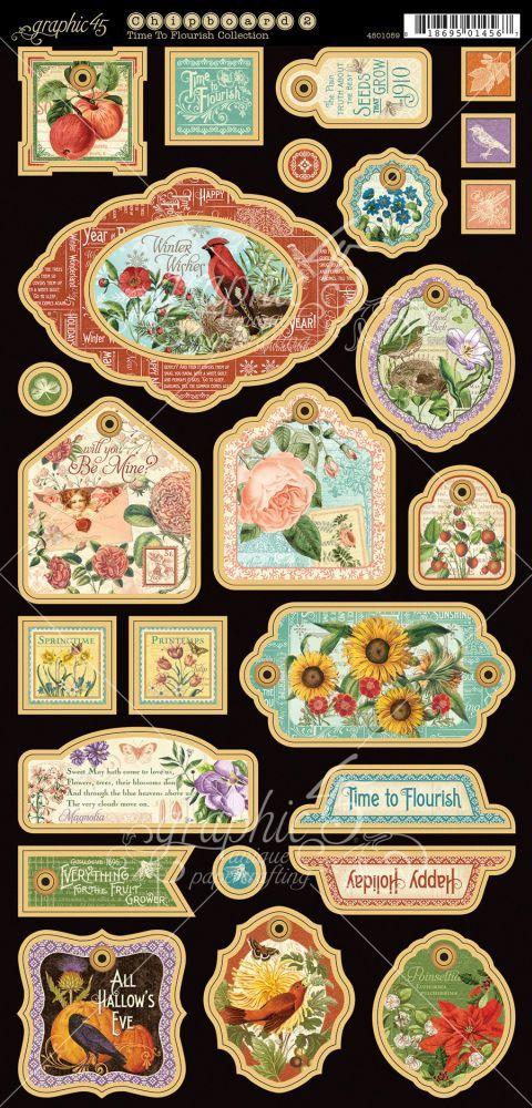 Graphic.45.Time.To.Flourish.-.Calendar.-.34.of.36.-.Decorative.Chipboard