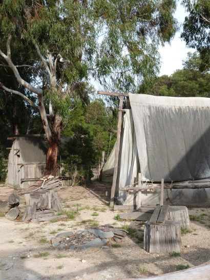 Chinese Miners Camo, Sovereign Hill, Victoria, Australia