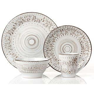 Pfaltzgaff Everyday Chateau Cream 16-piece Dinnerware Set   Overstock.com Shopping - The Best Deals on Casual Dinnerware