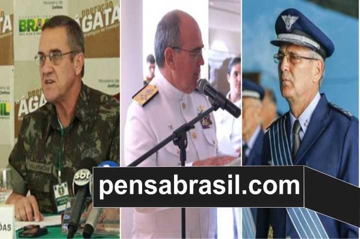 Comandantes da Marinha, Exército e Aeronáutica se reuniram pra discutir de vez a situação politica do Brasil | Pensa Brasil