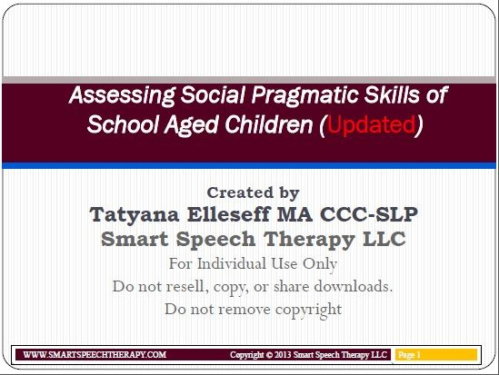 21 best assessment images on pinterest speech language therapy assessing social skills school children fandeluxe Image collections
