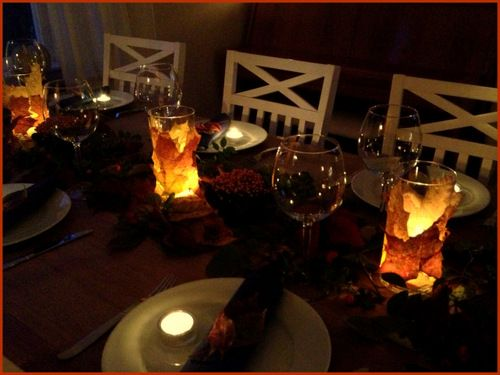 Höstdukning - autumn table setting
