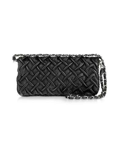 Prezzi e Sconti: #Clutch in pelle nera matelassè  ad Euro 285.00 in #Borse borse donna #Moda